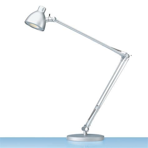hansa schreibtischlampe led valencia silber eoffice