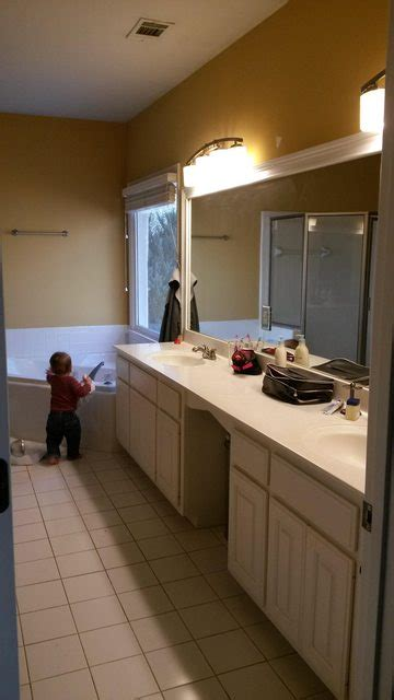 bathroom    replace  long double vanity