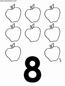 Free coloring pages of number 8