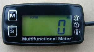 Tachometer With Temperature Function