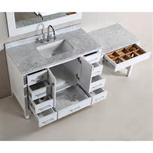 Single Sink Bathroom Vanity With Makeup Area by Design Element London 48 Quot Vanity Set With Make Up Table