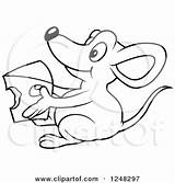 Cheese Mouse Macaroni Clipart Holding Coloring Illustration Royalty Vector Dero Printable Getcolorings Getdrawings sketch template