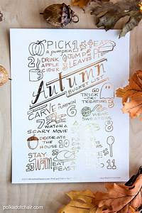 Check List Template Free Printable Autumn Bucket List