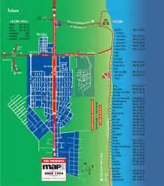 Beach Tulum Hotel Zone Map