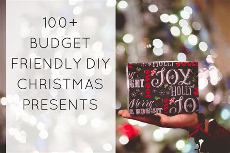 100 diy budget friendly christmas gifts this tiny blue
