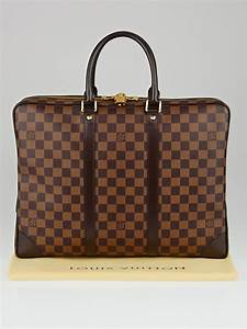 louis vuitton damier canvas porte documents voyage bag With louis vuitton document bag