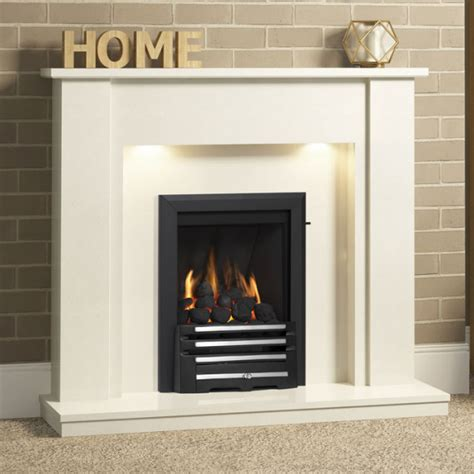 Contemporary Fireplaces Uk - be modern elda 48 quot marble fireplace suite fireplaces are us