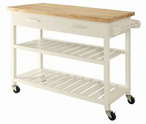 kitchen island trolley cart white solid wood benchtop With best brand of paint for kitchen cabinets with silver buffalo wood wall art