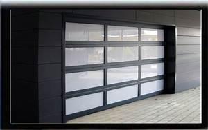 porte de garage sectionnelle vitree isolation idees With porte de garage enroulable et roulette baie vitrée