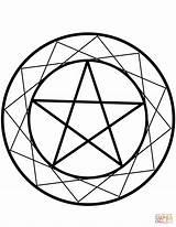 Wiccan Coloring Pentacle Wicca Drawing Pentagram Drawings Printable Template Culture Supercoloring Crafts Getdrawings Games Dot Sketch Categories sketch template