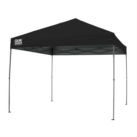 quik shade expedition  ft   ft black instant canopy   home depot