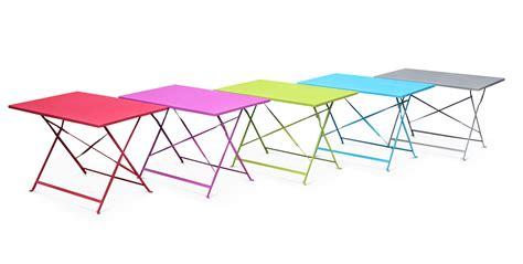 table chaises de jardin table de jardin style bistrot 4 places en acier emilia