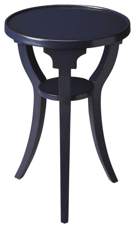 navy blue side table dalton navy round accent table contemporary side