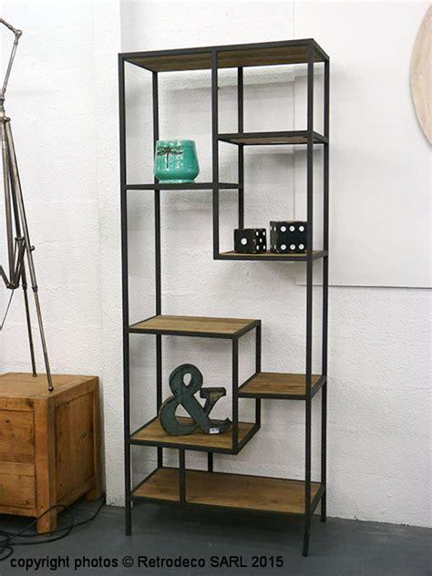 accessoire meuble de cuisine bibliothèque métal et bois hanjel han 517124