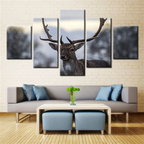 Antler Home Decor Panel Wall Art Deer Stag With Long On Home Decorators Catalog Best Ideas of Home Decor and Design [homedecoratorscatalog.us]