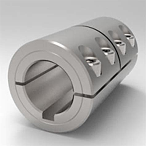 metric rigid shaft couplings  piece split clamp type  keyways  stafford manufacturing corp