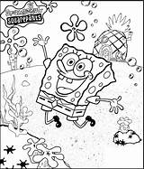 Coloring Bikini Bottom Spongebob Bubakids sketch template