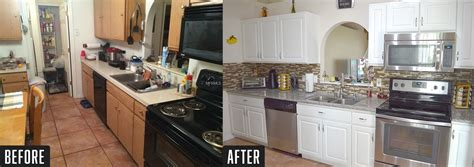 before and after pictures of kitchen cabinets painted reface masters 407 801 4645 cabinet refacing services 9889