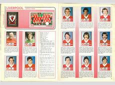 Liverpool 1981 Classic Football Stickers