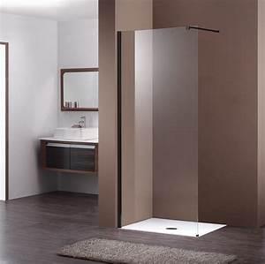 Paroi De Douche : paroi de douche fixe noir le pack complet pour votre douche ~ Melissatoandfro.com Idées de Décoration