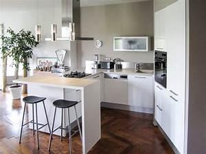 Bar D Appartement : agencement architecture int rieurs appartement ancien lyon 6 cuisine moderne bar hotte ~ Teatrodelosmanantiales.com Idées de Décoration