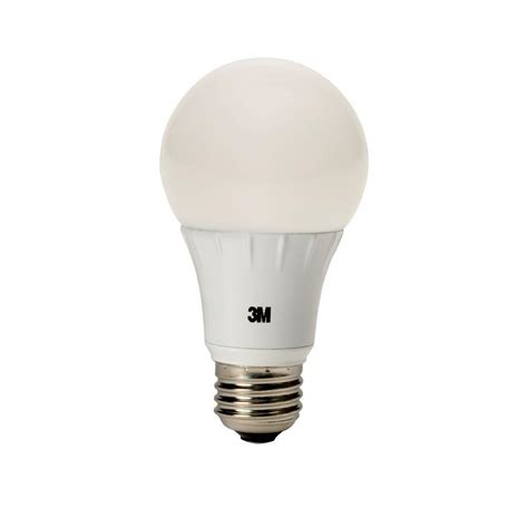 3m 75w equivalent soft white a19 240 176 dimmable led light