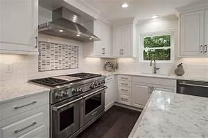 Contemporary White  U0026 Gray Kitchen