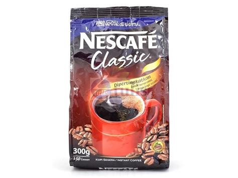 Are you used to drinking coffee with lots of cream, sugar, or other artificial sweeteners? NESCAFE Classic Instant Coffee Soft Pack 300gm - Largest office supplies online store in Malaysia