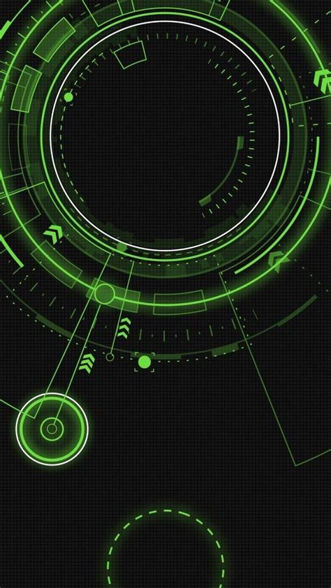 green circles tech arrows black wallpaper background smartphone backgroundswallpapers
