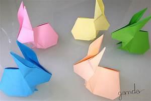 Hasen Basteln Aus Papier Vorlage : origami ganda designzeit ~ Orissabook.com Haus und Dekorationen
