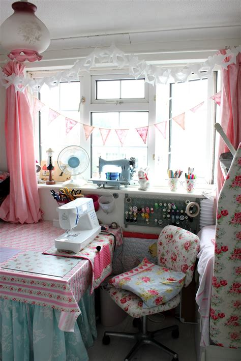 shabby chic sewing room ideas shabbychicsarah sewing room tour