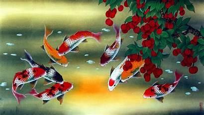 Koi Fish Painting Paintings Artwork Asian Wallpapers
