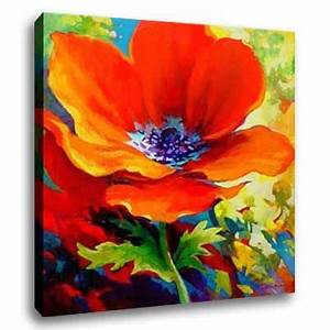 Easy Acrylic Flower Paintings
