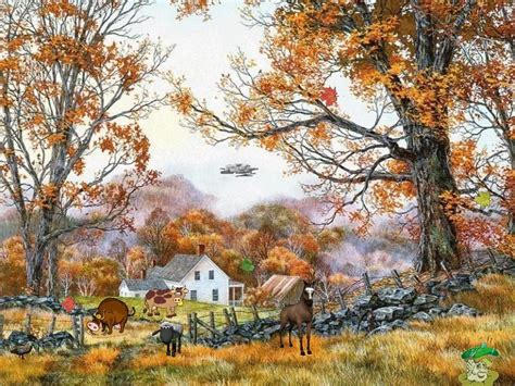 fall country scenes nature screensavers autumn life