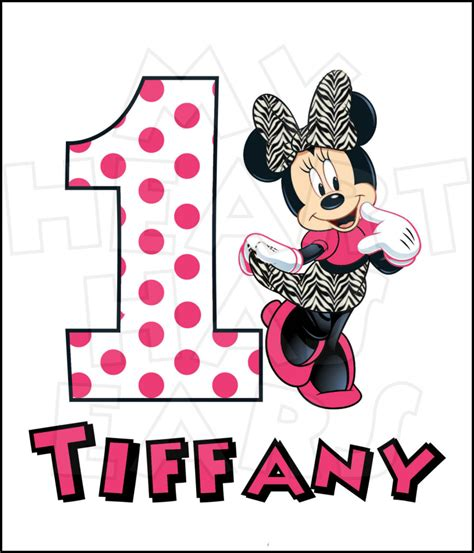 baby minnie mouse st birthday clipart clipground