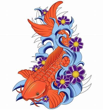 Koi Fish Vector Japanese Tattoo Clipart Clip