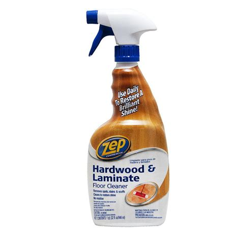 laminate flooring cleaner zep 32 oz hardwood and laminate floor cleaner zuhlf32 the home depot
