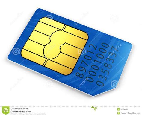 blue sim card royalty  stock  image