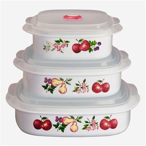corelle calypso pc plastic microwave cookware set vent lids pick  pattern ebay