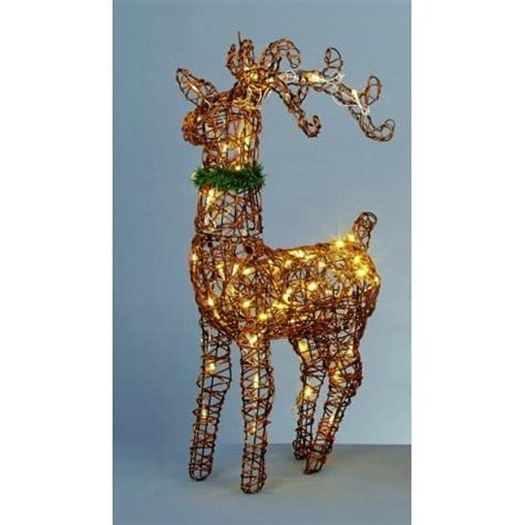 premier decorations warm white led standing reindeer