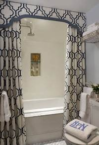 custom shower curtains Dramatic Shower Curtains… | Kate Collins Interiors