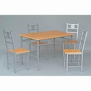 Ensemble Table Et 4 Chaises De Cuisine Panel Meuble