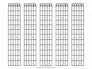 Blank Guitar Fretboard Diagram  Blank  Free Engine Image For User Manual Download