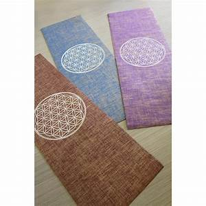 organic yoga mat with flower of life made of jute With tapis yoga naturel