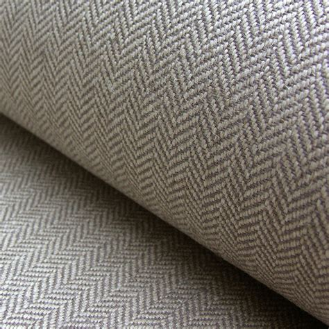 linen herringbone natural linen  elephant grey