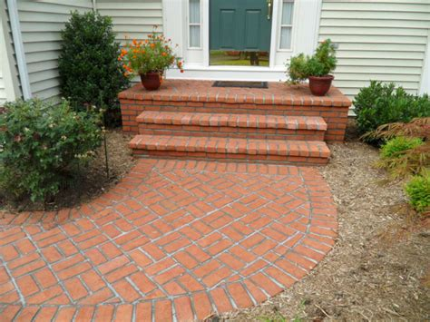 brick and concrete walkway professional stone work silver spring md phone 240 644 4706 we build outdoor structures