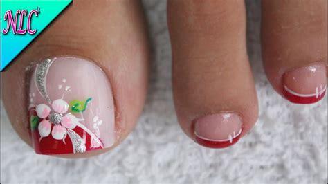 Diseños de uñas para pies con flores y corazones. Dibujos Para Unas De Los Pies De Flores Decoracion De Unas Para Pies Flor Facil De Hacer Flower ...