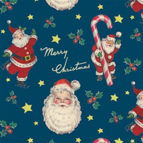 retro santa wrapping paper elfie childrens clothes