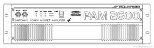 Ecler Pam2600 Switching Power Mosfet Amplifier Manual