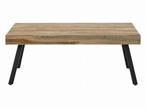 Table Basse Rectangulaire Bois Metal Noir Fly